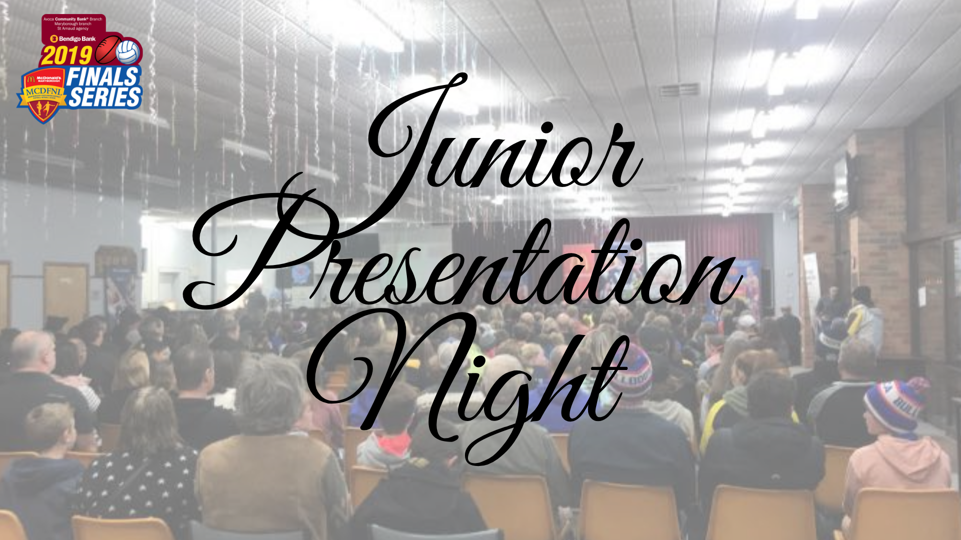 Junior Presentation Night Results